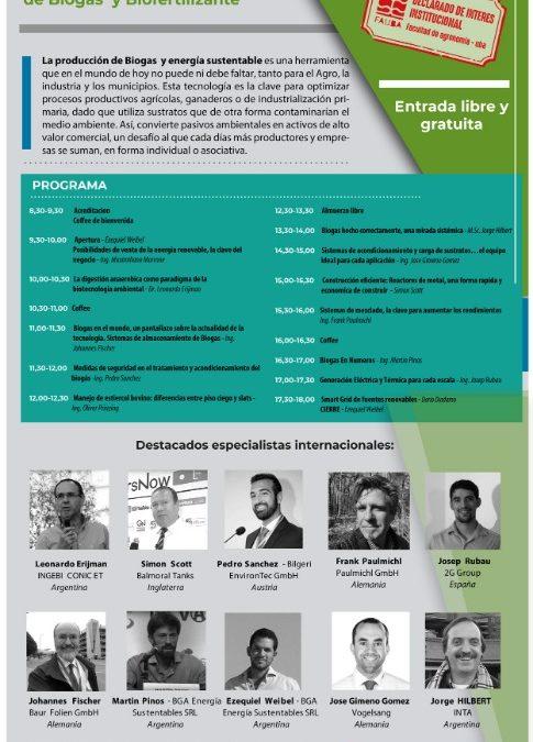 """Lunes 24 de septiembre: invitación al """"Primer Seminario sobre Biogás"""" en Buenos Aires"""