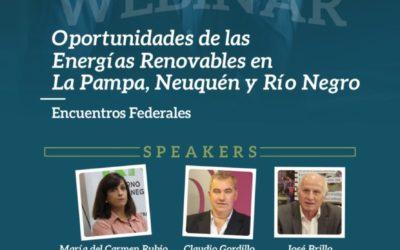 CADER organiza un Webinar para conocer planes de energías renovables en Río Negro, La Pampa y Neuquén