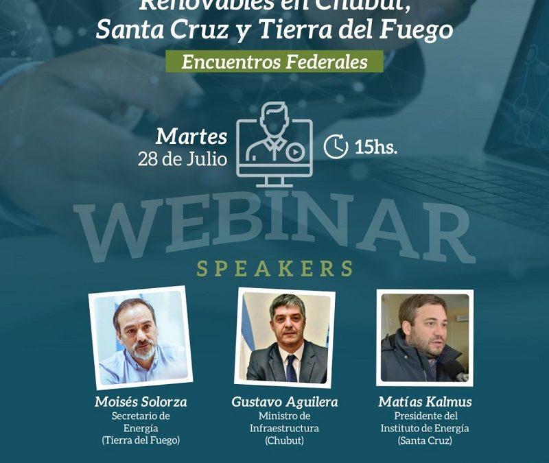 Abierta la inscripción al Webinar de CADER sobre energías renovables en Santa Cruz, Chubut y Tierra del Fuego