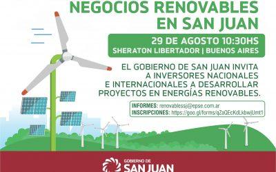 El Gobierno de San Juan lanza una convocatoria de proyectos de energías renovables
