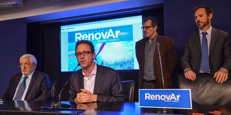 Se presentaron 56 proyectos a la subasta «Ronda 3» del Programa RenovAr